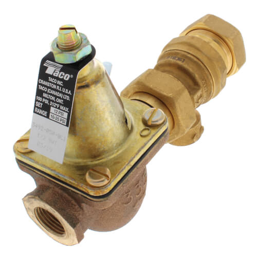 "1/2"" Brass Combination Boiler Feed Valve & Backflow (Sweat x NPT) Product Image"