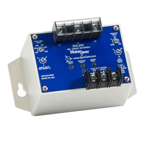3 Phase SPDT Adjustable Trip & Restart Voltage Monitor (380-480V) Product Image