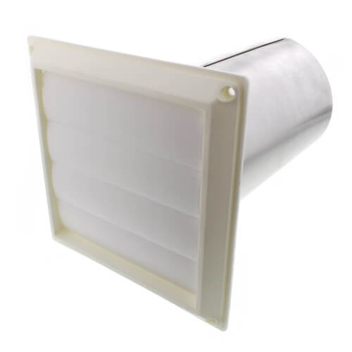 """6"""" Plastic Louvered Vent w/ 12"""" Tail Pipe Product Image"""