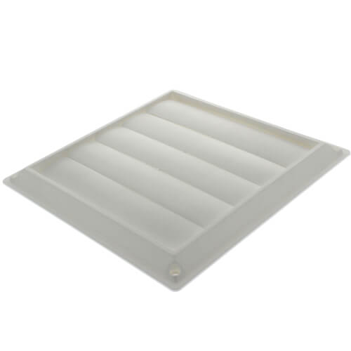 """7"""" White Plastic Louvered Wall Vent Product Image"""