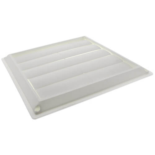 "8"" White Plastic Louvered Wall Vent Product Image"