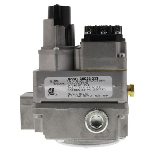 White Rodgers 36c03-333 Gas Control Valve Side Outlet 24v for sale online