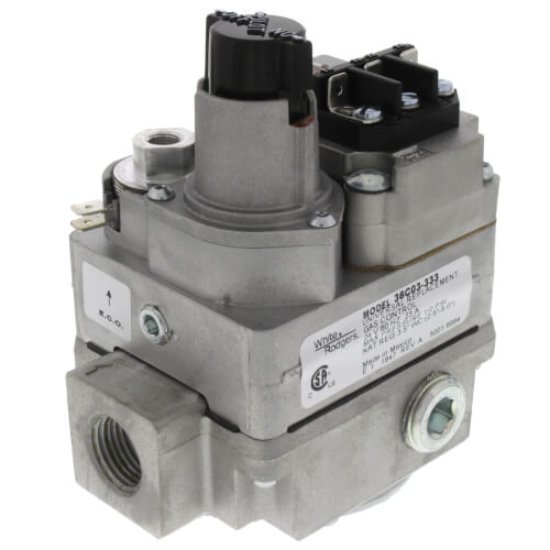 """1/2"""" X 3/4"""" Gas Valve, 24 VAC, Side Outlets Tapped And Plugged Product Image"""