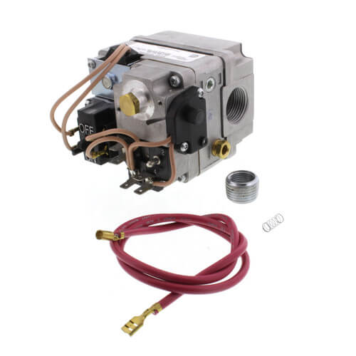 """3/4"""" Gas Valve, 24 VAC, Redundant (Pilot) Valve, Fast Opening, LP Kit, One 24'' Lead With Barrel And 1/4'' Connectors Product Image"""