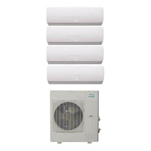 34,000 BTU InverterFlex Four Zone Heat Pump Package (9+9+9+9) Product Image