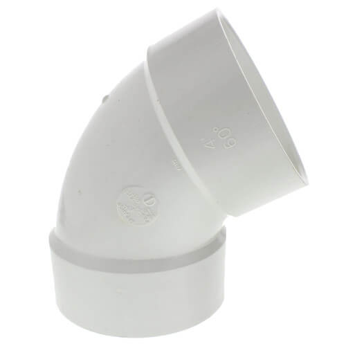 "10"" PVC DWV 60° Elbow Product Image"