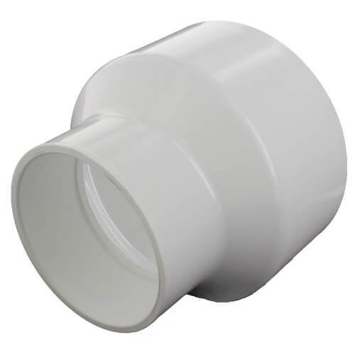 "12"" x 3"" PVC DWV Reducer Coupling (Fabricated) Product Image"