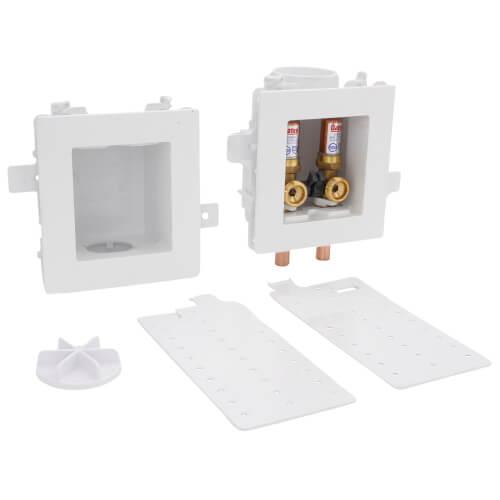 MODA Sweat Washing Machine Outlet Box w/ Water Hammer Arrestor, 1/4 Turn, Standard Pack Product Image
