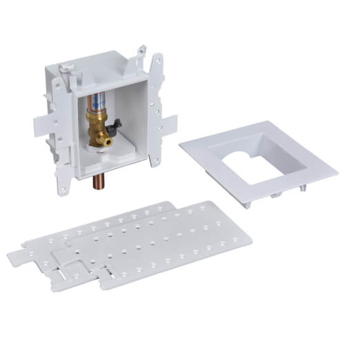 MODA Sweat Ice Maker Outlet Box w/ Water Hammer Arrestor, 1/4 Turn, Standard Pack Product Image