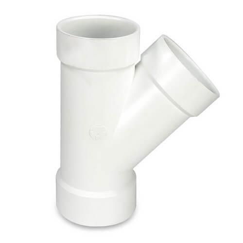 """14"""" PVC DWV Wye (Fabricated) Product Image"""