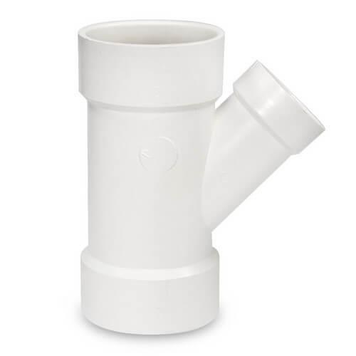 "8"" x 8"" x 3"" PVC DWV Wye Product Image"