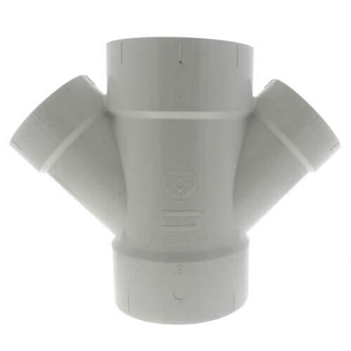 """6"""" x 2"""" PVC DWV Double Wye Product Image"""