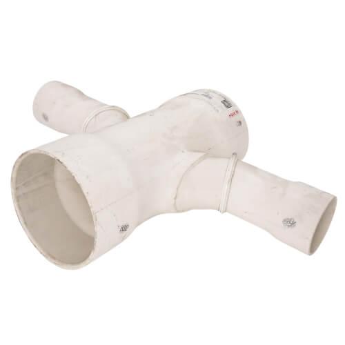 "6"" x 3"" PVC DWV Double Sanitary Tee Product Image"