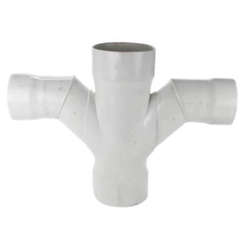 "10"" x 2"" PVC DWV Double Sanitary Tee Product Image"