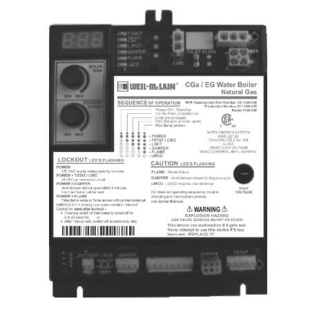 Control Module - Natural Gas For Series CGa-3 Product Image