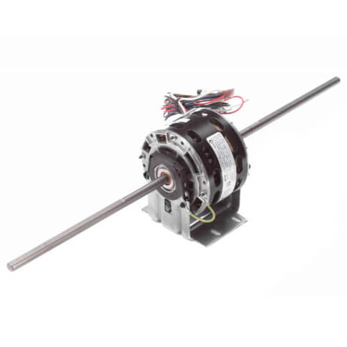 """5"""" 3-Speed Double Shaft Fan/Blower Motor (208-230V, 1075 RPM, 1/10, 1/15, 1/20 HP) Product Image"""