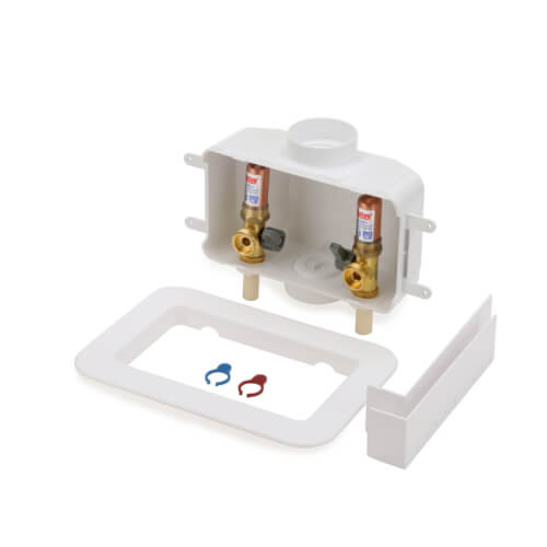Centro II CPVC Assembled Washing Machine Outlet Box w/ Water Hammer Arrestor, 1/4 Turn (Standard Pack) Product Image