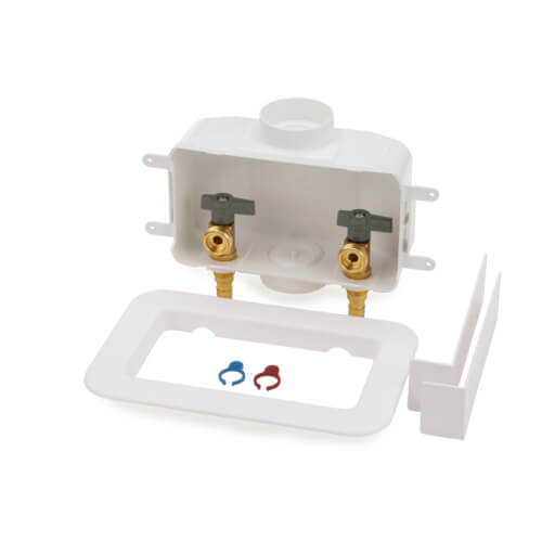Centro II Expansion PEX Assembled Washing Machine Outlet Box w/ 1/4 Turn (Standard Pack) Product Image