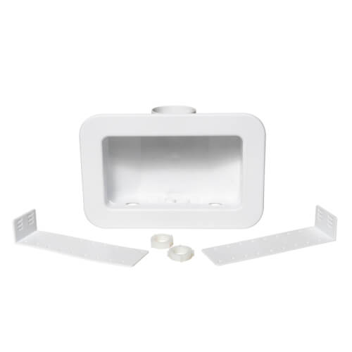 Centro II Plain Washing Machine Outlet box w/ plastic faceplate, no valves (Standard Pack) Product Image