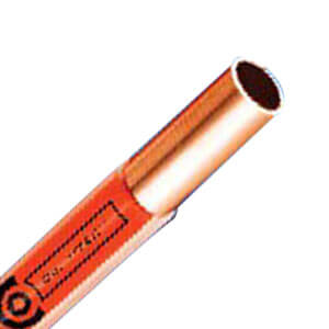 "Oil V-Tec 1/2"" OD x 50' Coated Copper Type L Tubing Coil (Orange) Product Image"