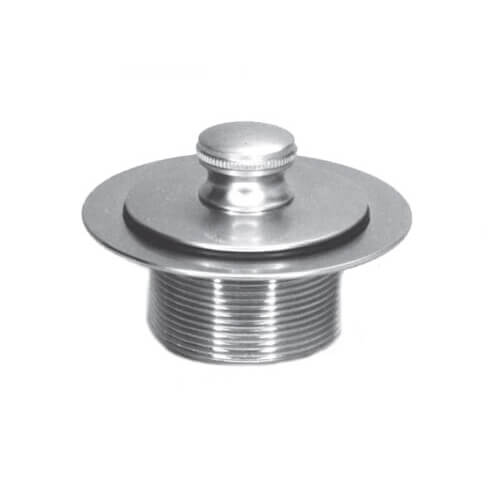 "1.865"" OD x 11.5"" Threads x 1.25"" Push Pull Bathtub Closure (Chrome Plated) Product Image"