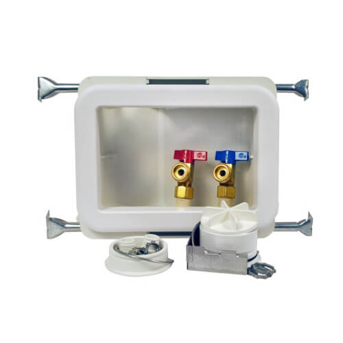 Fire Rated CPVC Washing Machine Outlet Box w/ 1/4 Turn Brass Ball Valve (Standard Pack) Product Image