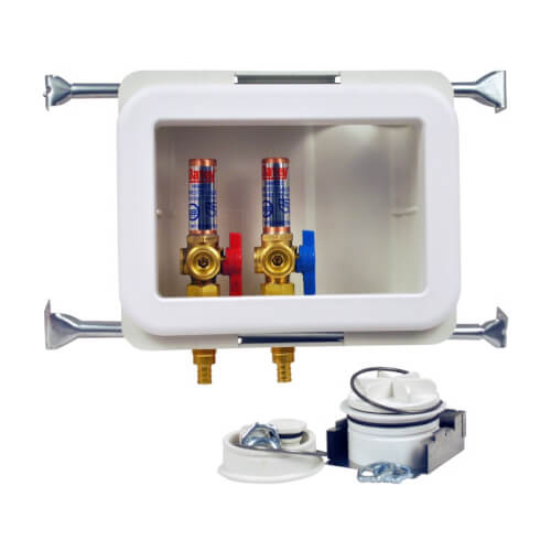 Fire Rated Expansion PEX Washing Machine Outlet Box w/ 1/4 Turn Brass Ball Valve (Standard Pack) Product Image