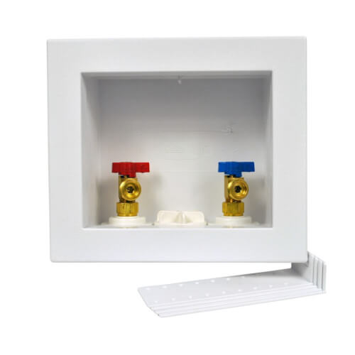 QUADTRO PEX Crimp Washing Machine Outlet Box w/ 1/4 Turn Ball Valve (Display Box) Product Image