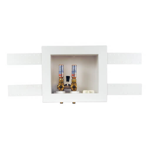 QUADTRO Expansion PEX Washing Machine Outlet Box w/ Single Lever Hammer Ball Valve (Standard Pack) Product Image