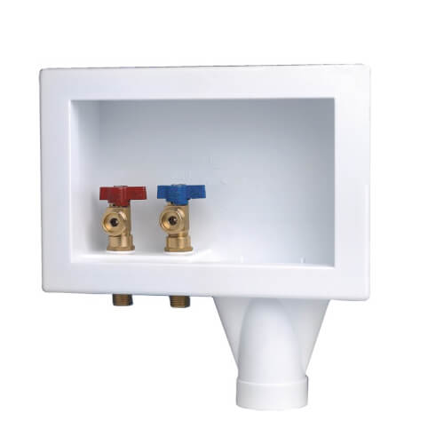 Eliminator Copper, Bottom Mount Washing Machine Outlet Box w/ 1/4 Turn (Standard Pack) Product Image