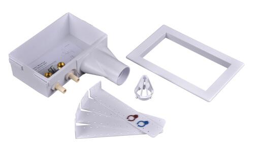 Eliminator CPVC, Bottom Mount Washing Machine Outlet Box w/ 1/4 Turn (Standard Pack) Product Image