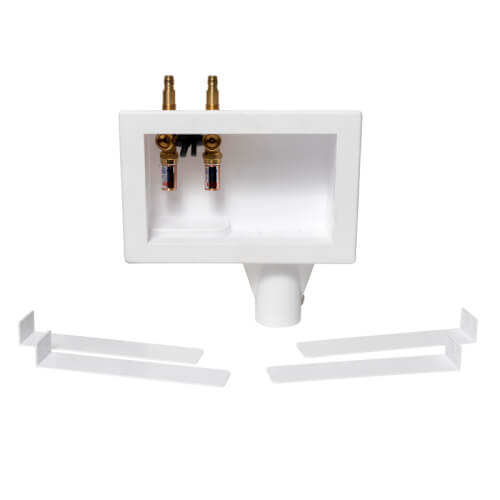Eliminator Expansion PEX, Top Mount Washing Machine Outlet Box w/ Water Hammer Arrestor, 1/4 turn (Contractor Pack) Product Image