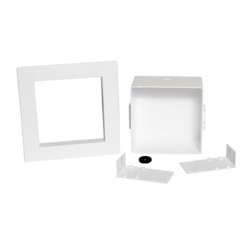 Square Plain Ice Maker Box w/ Grommet, No Valves (Standard Pack) Product Image