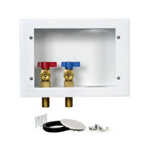 """Metal Copper Sweat Washing Machine Outlet Box w/ 1/4 Turn, 2"""" Rubber Tailpiece (Standard Pack) Product Image"""
