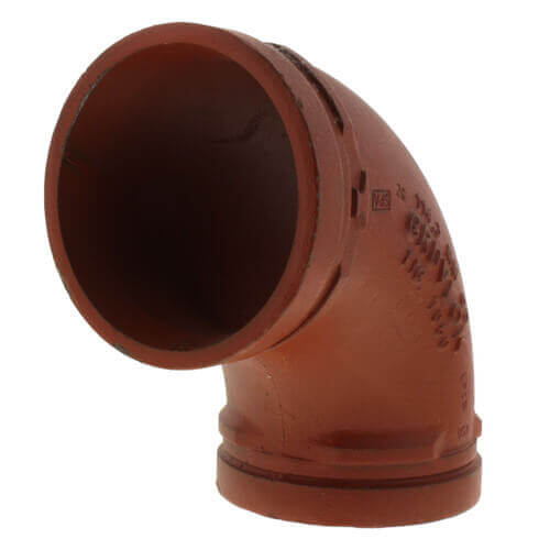 """12"""" Grooved 90° Elbow (7050 Series) Product Image"""