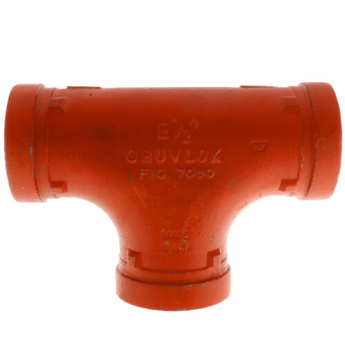"""2-1/2"""" 7060 Grooved Tee Product Image"""