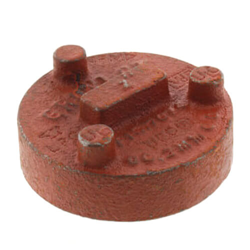 """3"""" 7074 Grooved Cap Product Image"""