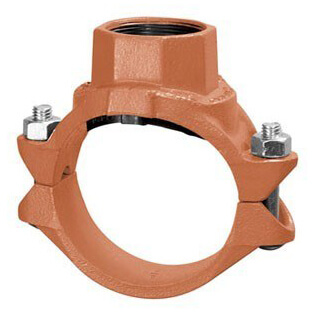 """8"""" x 4"""" 7045 Clamp-T with FTP Branch Product Image"""