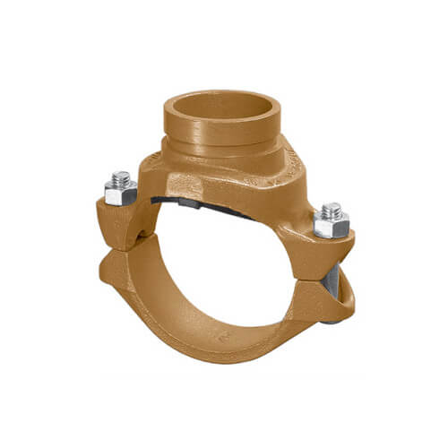 "4"" x 1-1/4"" 7046 Clamp-T with Grooved Branch Product Image"