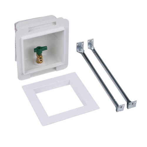 Fire Rated PEX Crimp Ice Maker Outlet Box w/ 1/4 Turn, Low Lead (Standard Pack) Product Image