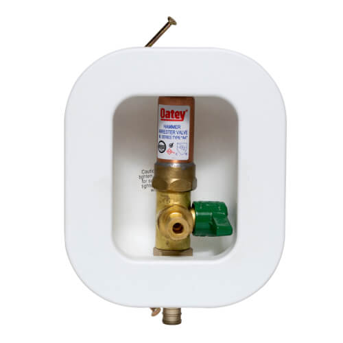 I2K PEX Crimp Ice Maker Outlet Box w/ Water Hammer Arrestor, 1/4 Turn, Low Lead (Contractor Pack) Product Image