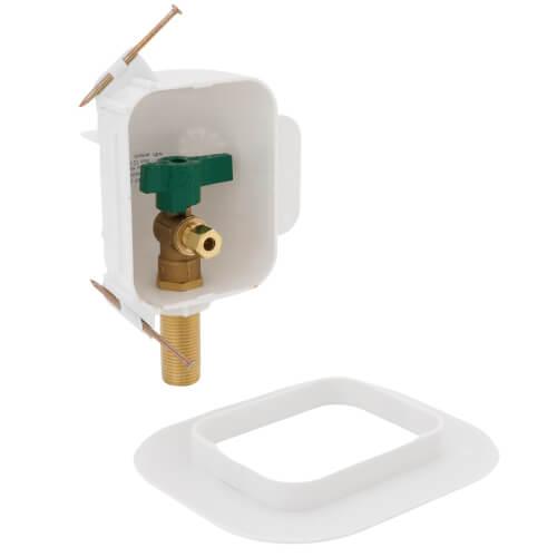 I2K PEX Crimp Ice Maker Outlet Box w/ 1/4 Turn, Low Lead (Standard Pack) Product Image