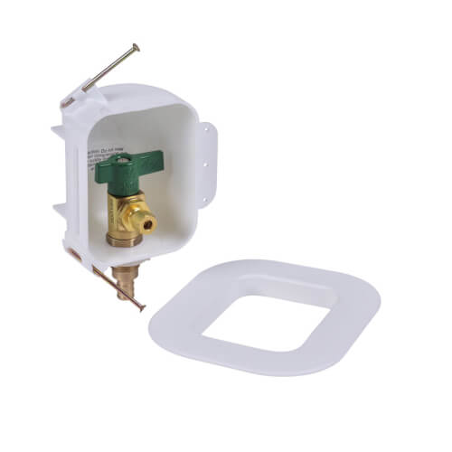 I2K PEX Crimp Ice Maker Outlet Box w/ 1/4 Turn, Low Lead (Contractor Pack) Product Image