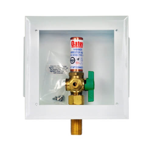 Metal Copper Ice Maker Outlet Box w/ Water Hammer Arrestor, 1/4 Turn, Low Lead (Standard Pack) Product Image