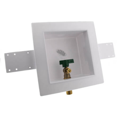 Square Ice Maker Outlet Box w/ 1/4 Turn Lead Free Valve (Sweat) Product Image