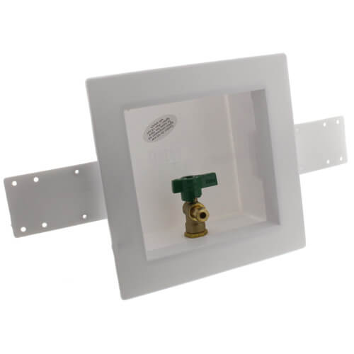 Square Ice Maker Outlet Box w/ 1/4 Turn Lead Free Valve (Pex Crimp) Product Image