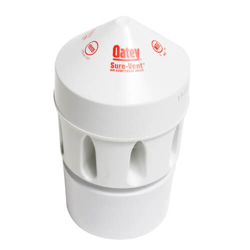 """160 DFU Sure-Vent Air Admittance Valve w/ 2"""" x 3"""" PVC Adapter Product Image"""