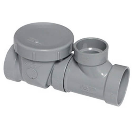 "2"" x 2"" x 1.5"" Two Piece PVC Flow Control Device, 7 GPM (Grey) Product Image"
