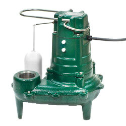 Model E395 High Head Waste-Mate Manual Cast Iron Sewage Pump - 230V, 2 HP (Single Seal) Product Image