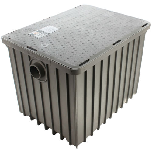 "100lb., 50 gpm Grease Trap (3"" Connection) Product Image"